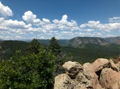 View from the top of Capenter Peak Colorado
