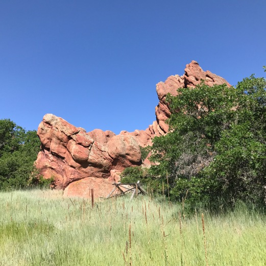 Red Rock Formation in Roxborough State Park