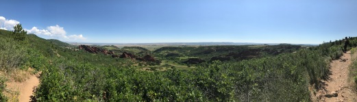 Panoramic view of the surrounding landscape from Carpenter Peak