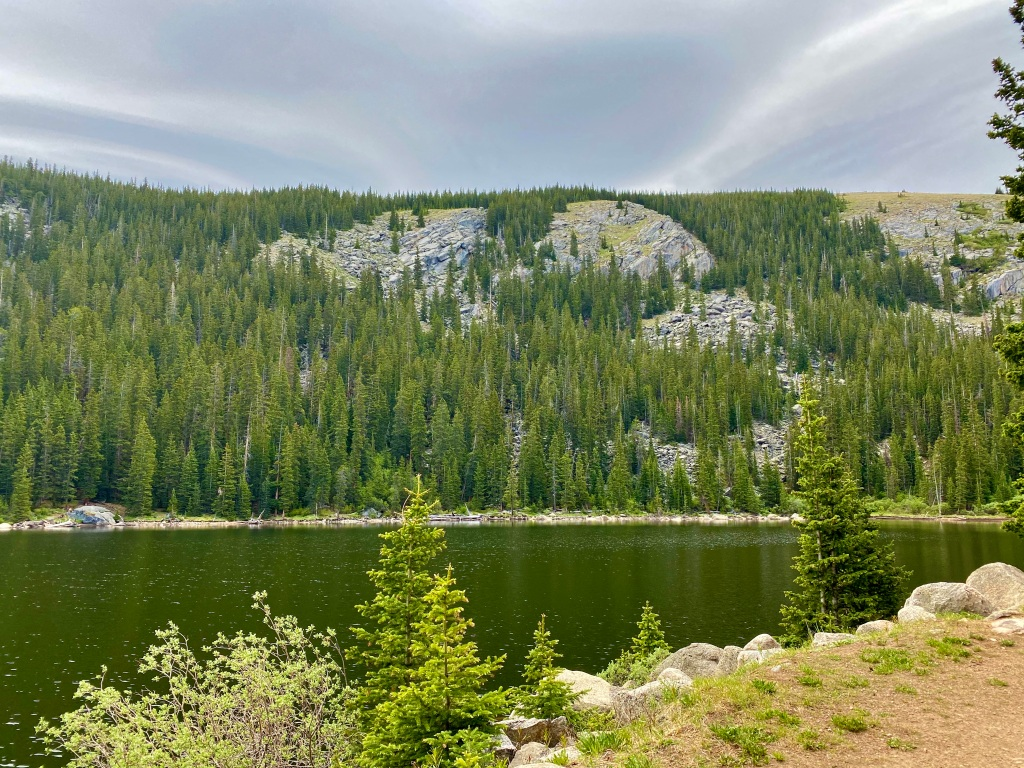 Another view of the mountain lake and surrounding Cliffside's