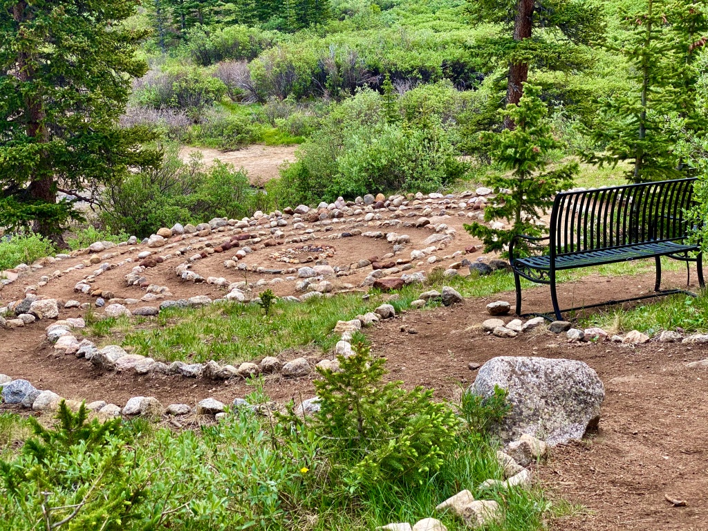 Looking at the very unique labyrinth set up
