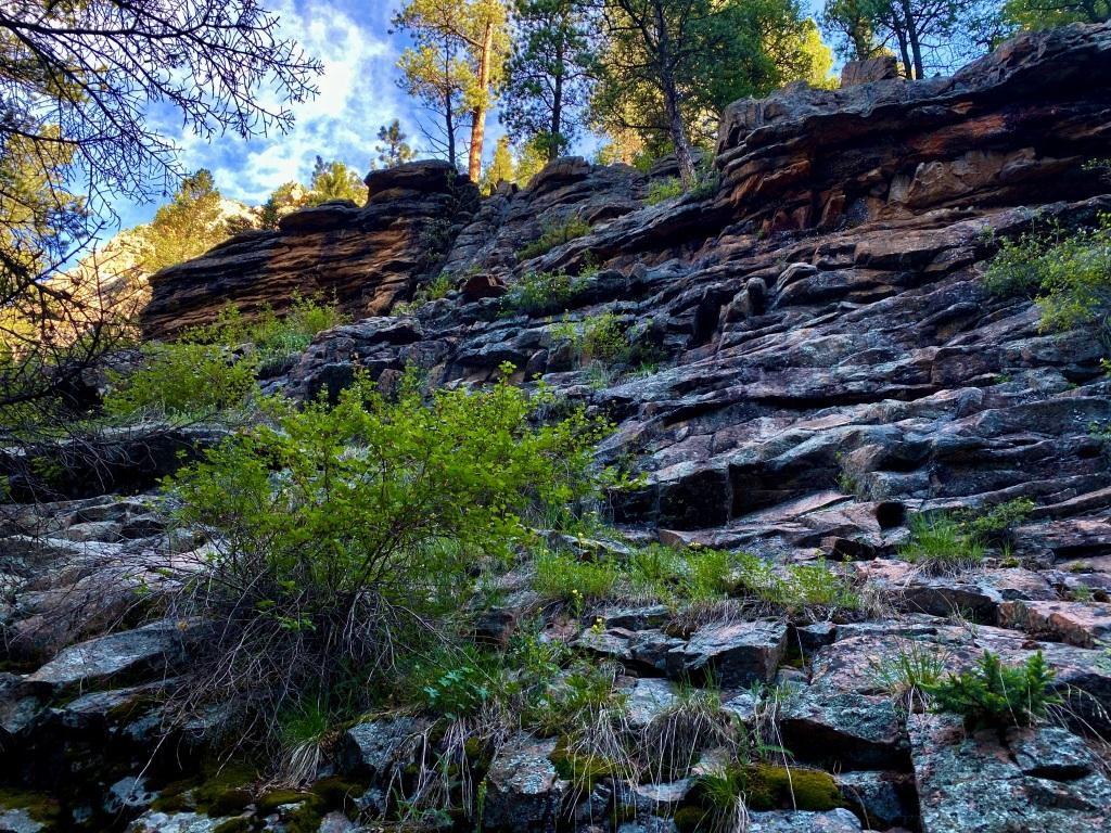 Beautiful rock landscape along the trail