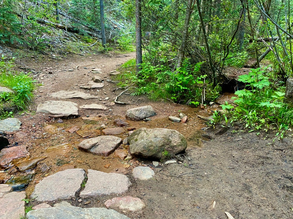 A stream crossing along the Mason Creek Trail