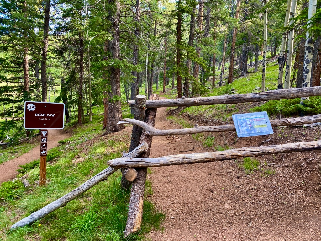 Detour off Mason Creek Trail to Bear Paw Trail