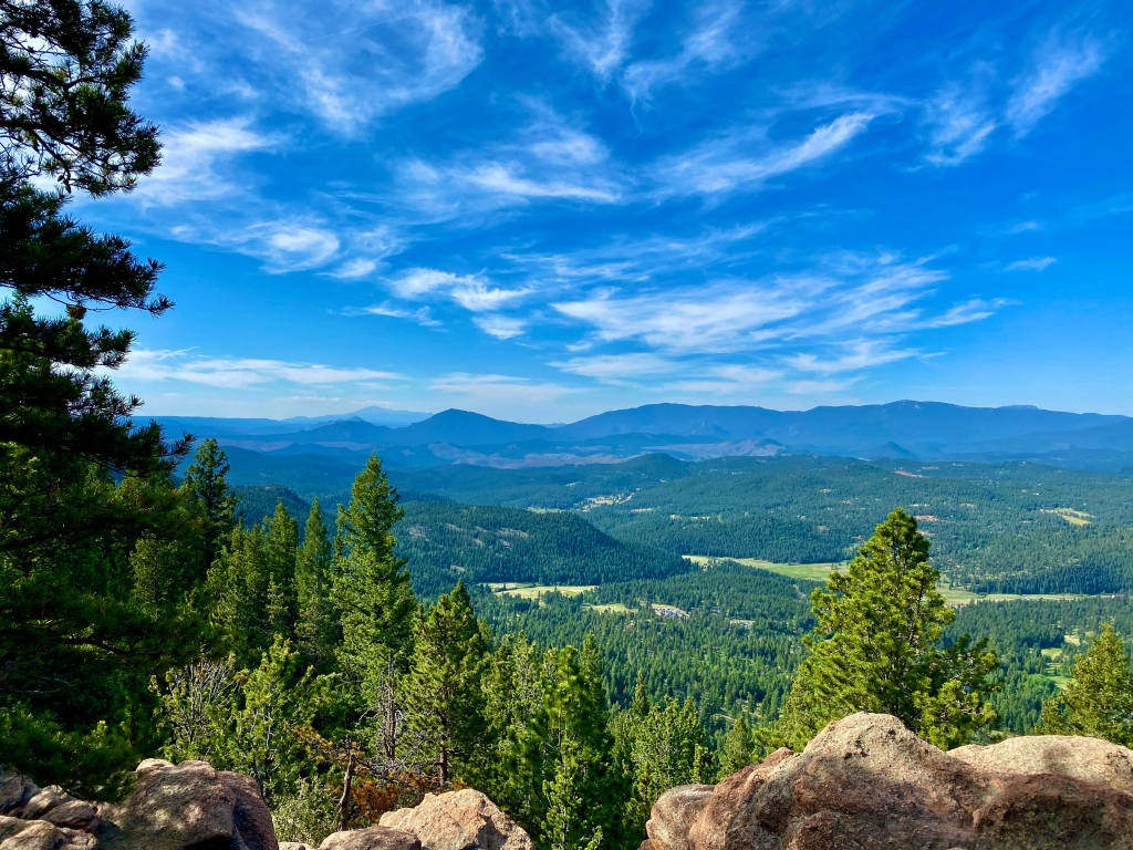 Viewing the surrounding landscape from the Catamount Outlook