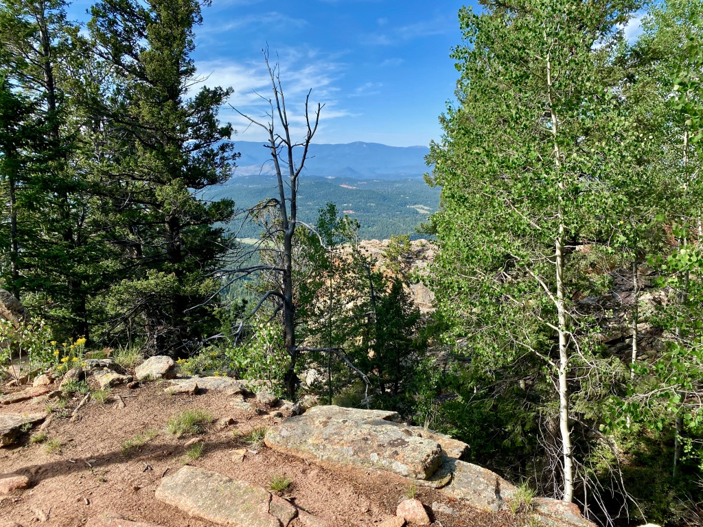 Example of the technical terrain looking towards the mountains