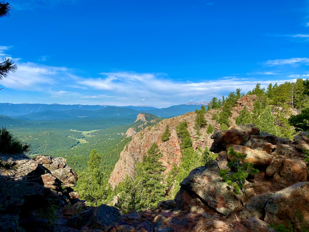 View from the Pike's Peak Outlook