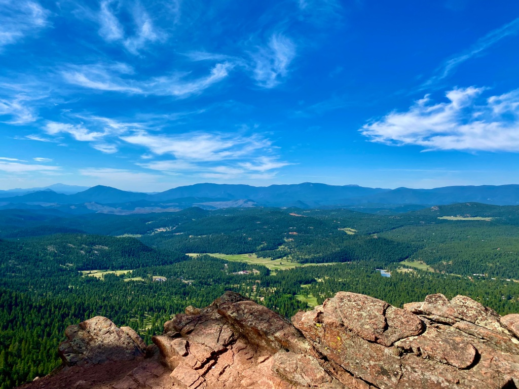 View of the surrounding area from the Pike's Peak Outlook