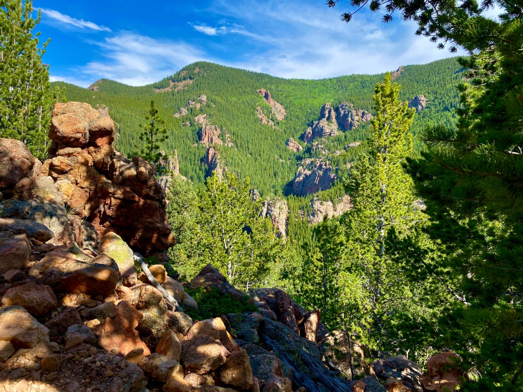 View from the bottom of the Eagle Cliffs Outlook